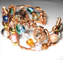 Jeweled Pure Copper Bracelet