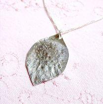 Leaf Shaped Silver Pendant
