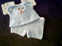 Newborn  - Baby-Boys Blue Bear 2PC Outfit