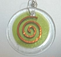 Fused Glass Reiki Charged Jewelry