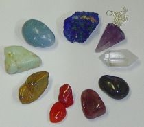 Chakra Scrying Healing Pouch stones
