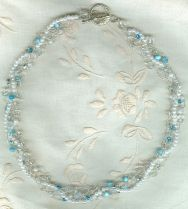 Braid of Pearls Crystalsand Turqoise