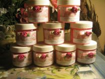 Bath Crystal Baby Shower Favors in Baby Powder Scent