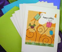 Orange Birthday Notecards