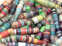 Paper Beads Green Earth