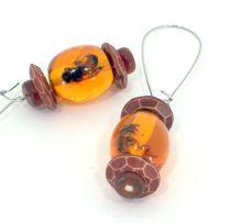 Bees Captured in Amber Earrings