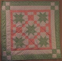 Peachy Green Baby Quilt